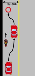 黄色い実線の追越し2